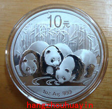 China 2013 panda 1oz silver coin S10Y with coa and box