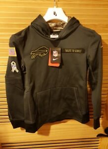 more photos 62f96 02399 Details about Nike NFL Buffalo Bills Salute to Service Performance Pullover  Hoodie Yth L 14/16