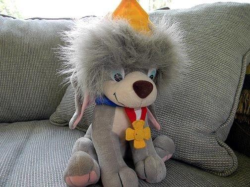 Vintage 1997 ANASTASIA POOKA Dog with Crown Crown Crown PLUSH Adult Owned 14d15b