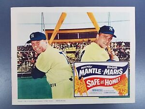 Vintage 1962 Lobby Card 11 x 14 SAFE AT HOME Mickey Mantle Roger Maris Yankees