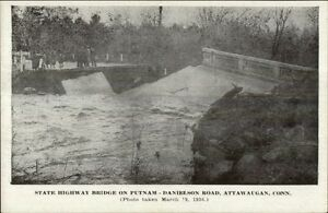 Attawaugan-CT-1936-Flood-Postcard