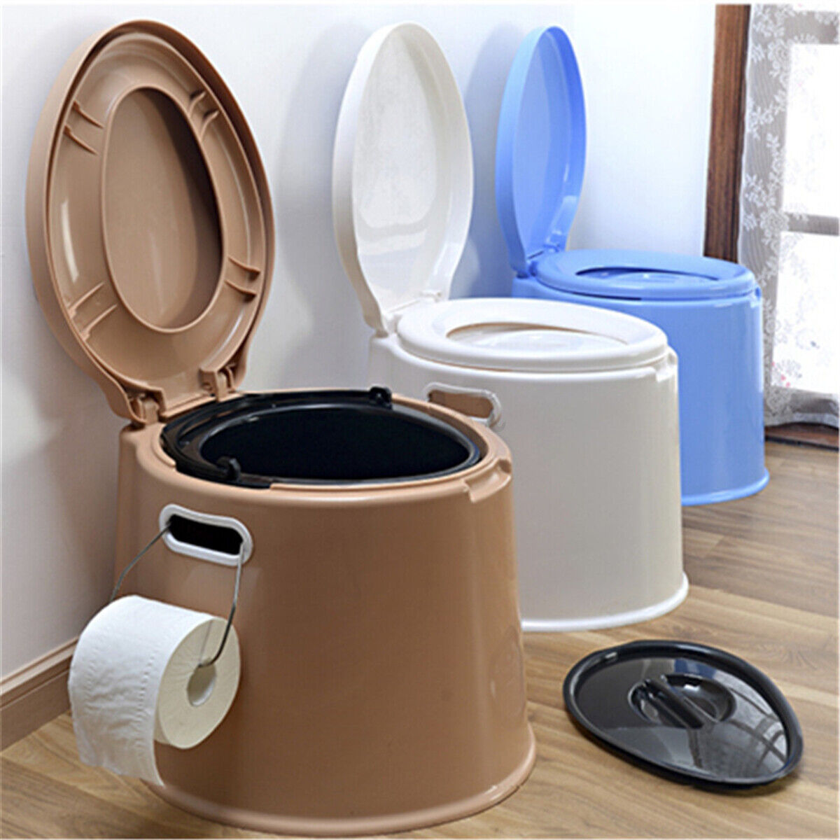 New Portable Toilet Commode Camping Outdoor Indoor Toilet Potty Travel Emergency