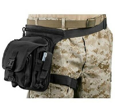 NEW - Military Tactical Operator Hip Pouch Security Sling Bag Pack SWAT BLACK
