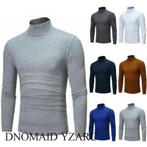 DNOMAID-YZARC-Men-039-s-Warm-Cotton-Pullover-Jumper-Sweater-Tops-Turtleneck-Shirts