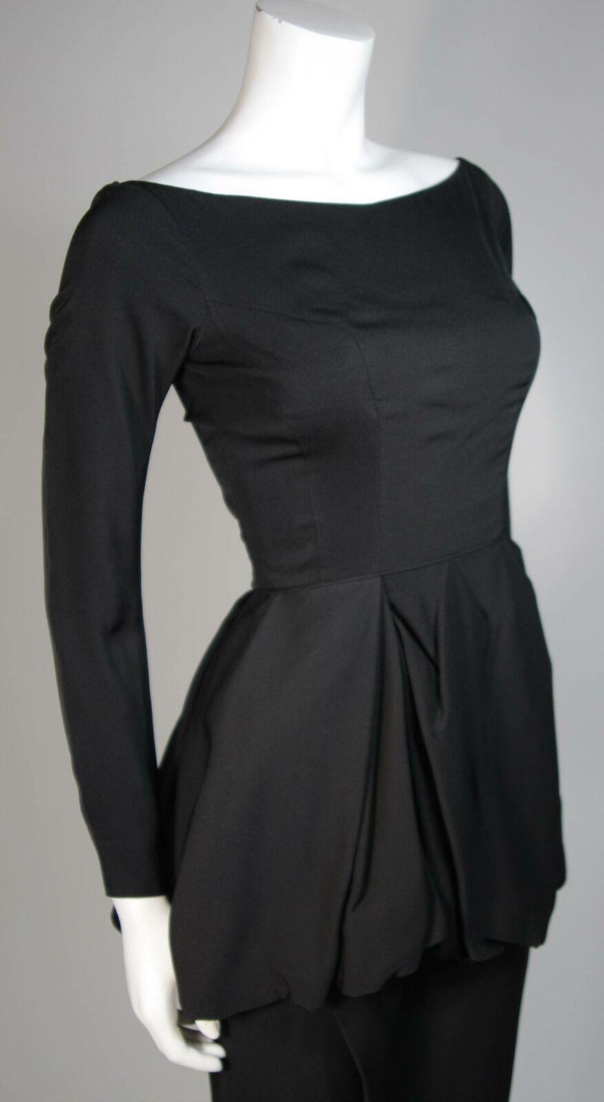 CEIL CHAPMAN Black Draped Princess Style Waist Dr… - image 6