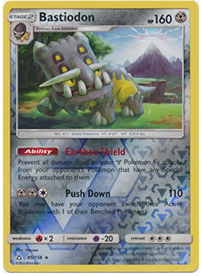 2x Pokemon SM Ultra Prism Bastiodon 85//156 Holo Rare Card NM