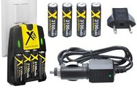 3100mah 4aa Battery+110-240 & Car Charger For Olympus Fe-47