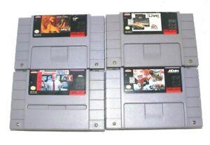 (4)SNES Super Nintendo Games Lot:Lion King,NBA Live 96,Madden,NFL Club 96