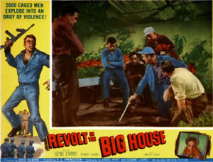 Revolt in the big house Gene Evans movie poster print