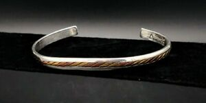 Silver-Cuff-Bracelet-Sergio-Lub-Silver-Copper-tri-colored