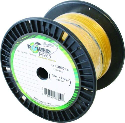 Nuevo Power Pro Spectra Línea de pesca 80lb 3000 YD Hi-Vis 21100803000Y