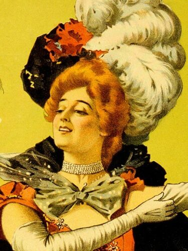 ZaZa Classic 1890s Vintage Style Theater Poster 16x24