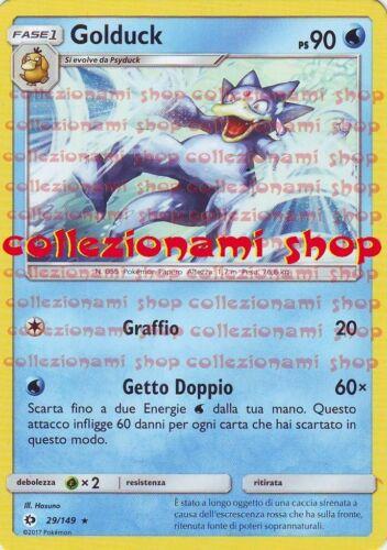 POKEMON GOLDUCK ITALIANO RARA 29//149 SOLE E LUNA