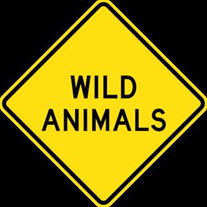 WILD-ANIMALS-W5-49-SELF-ADHESIVE-STICKER-DECAL-SIGN-HEALTH-amp-SAFETY