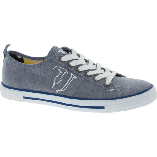Size UK 8//EU 42 Azul//Gris TRUSSARDI Para Hombre Lona Zapatillas