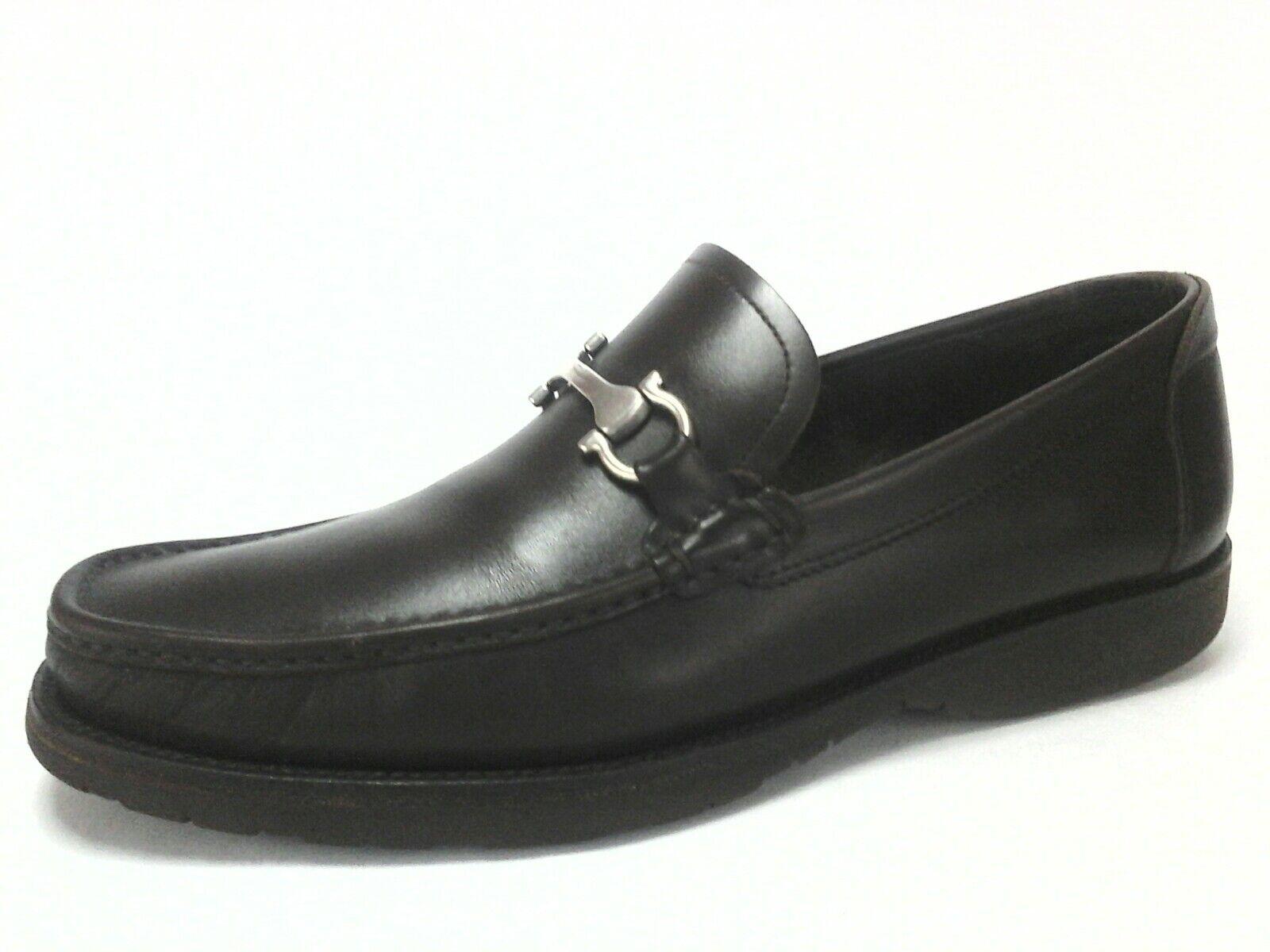 Salvatore Ferragamo Marrón Cuero Gancini Mocasines Zapatos US 11 EU 44.5 EU 10.5