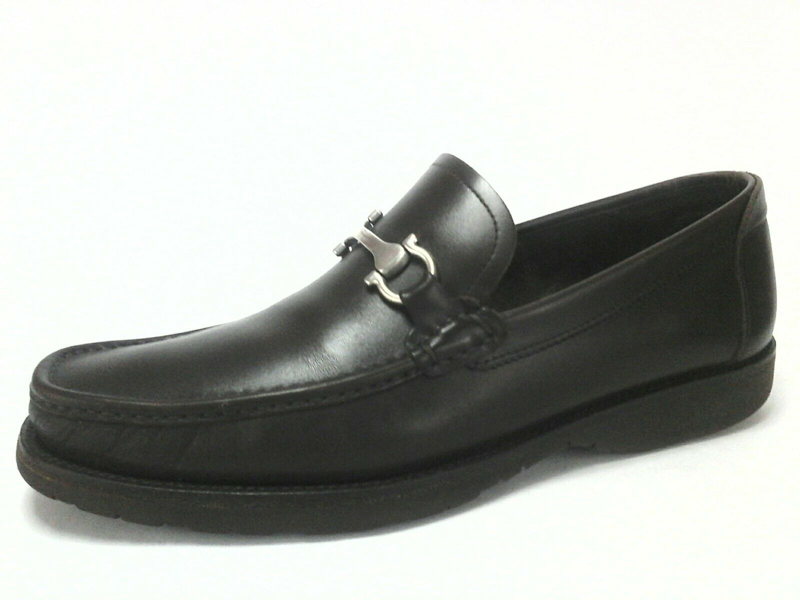 Salvatore Ferragamo marron en cuir Gancini Loafers chaussures US 11 EU 44.5 EU 10.5