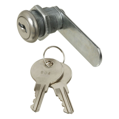 National Hardware  Chrome  Metallic  Drawer and Cabinet Lock  1//2 in.