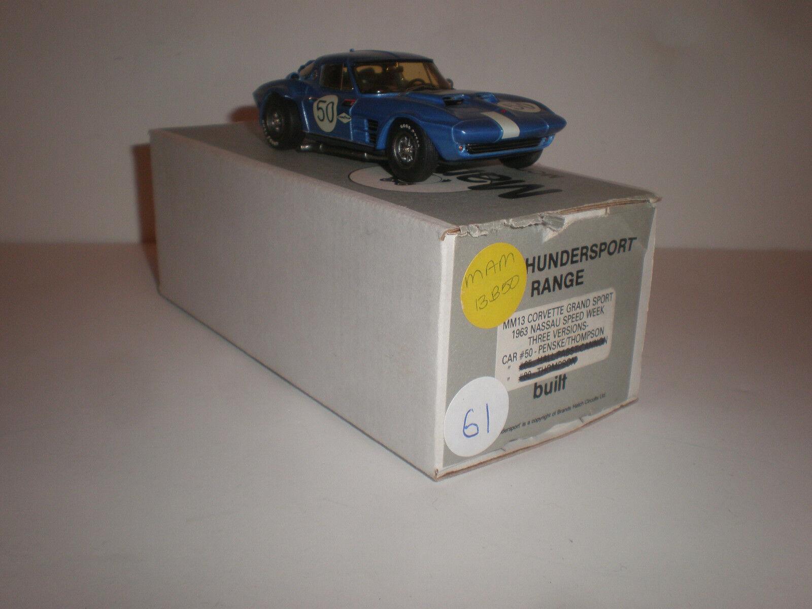MM13 Corvette Grand Sport 1963 Nassau velocidad semana coche 50 Marsh Models