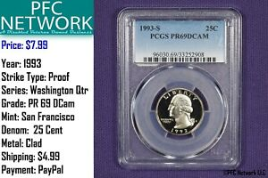 1993-S-Proof-PR-PF-69-DCam-Washington-Quarter-San-Francisco-Deep-Cameo-PCGS