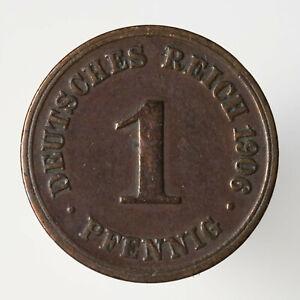 1 Pfennig 1906 F, Kaiserreich, J#10, Kupfer, (22) - Guben, Deutschland - 1 Pfennig 1906 F, Kaiserreich, J#10, Kupfer, (22) - Guben, Deutschland