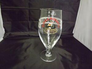 BIRRA MORETTI ITALIAN LAGER PINT BEER GLASS STEMMED GOBLET ARC 19.8CM TALL