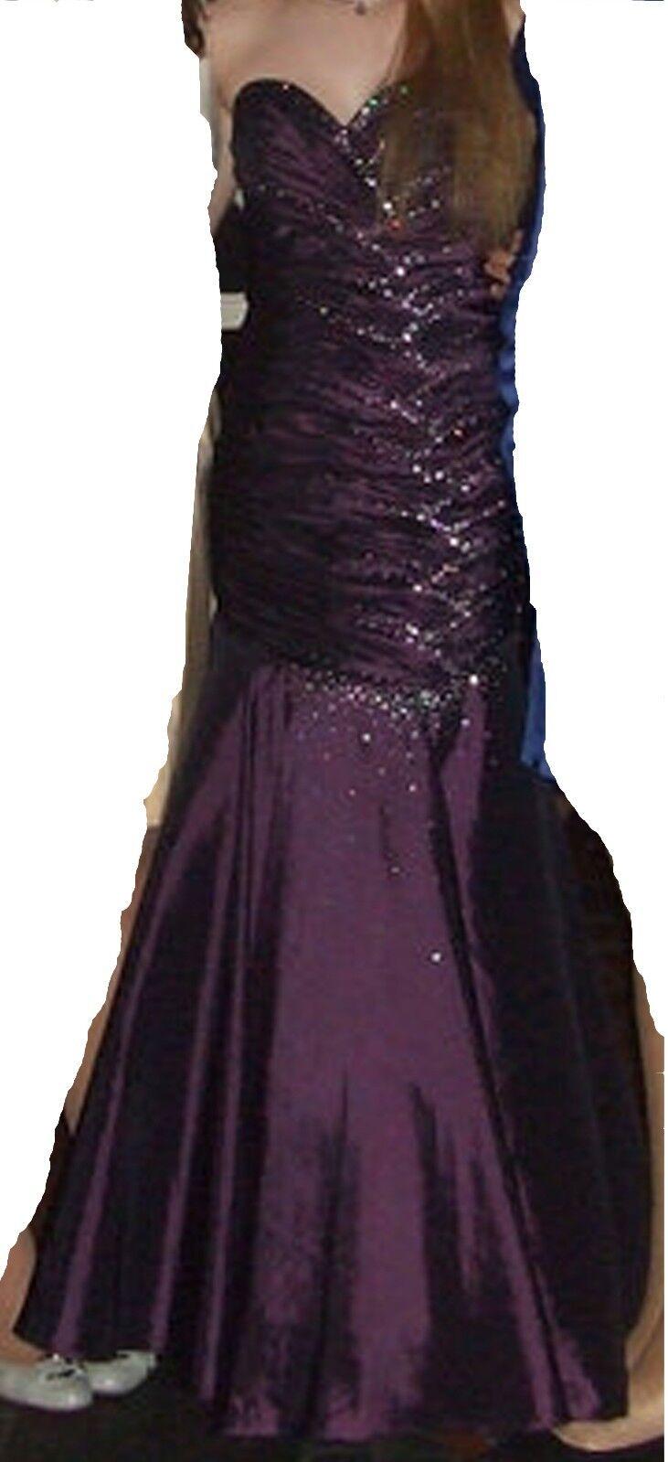Ballkleid Abendkleid Strass Mermaid Meerjungfrauenkleid Größe 38 UNIQUE NP