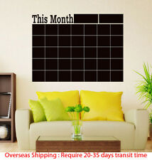 Monthly chalkboard Blackboard Wall Sticker Decor Calendar Chalkboard DIY*