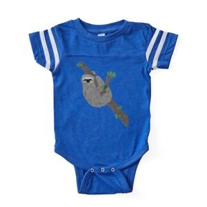 4eec5e034 Image is loading CafePress-Sloth-Baby-Football-Bodysuit-303591943