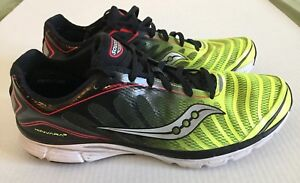 9259ce01b54 Saucony Kinvara 3 ProGrid Black Yellow Red White Running Shoes Men ...