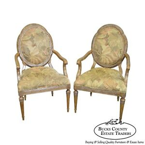 Image Is Loading Jeffco French Louis XVI Style Pair Of Fauteuils