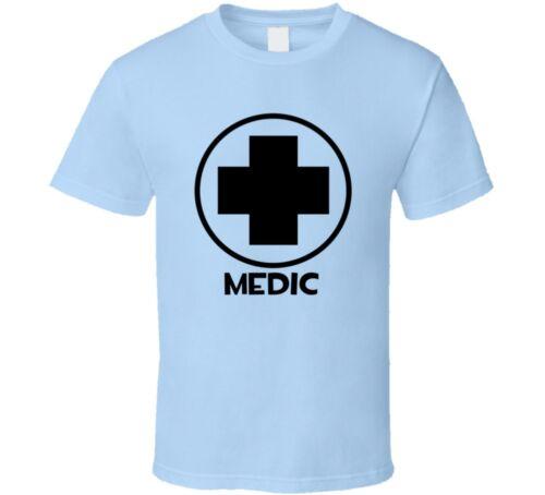 Team Fortress 2 Medic Blue Team Video Game Fan T Shirt
