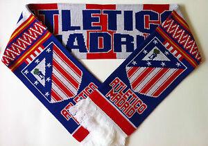 ATLETICO-MADRID-Football-Scarves-NEW-from-Superior-Acrylic-Yarns