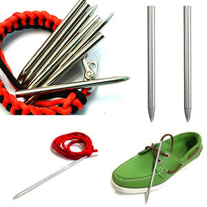 Hot-3-034-Multi-Purpose-Steel-Paracord-Needle-leather-lacing-kit-Screw-Threa-Pro