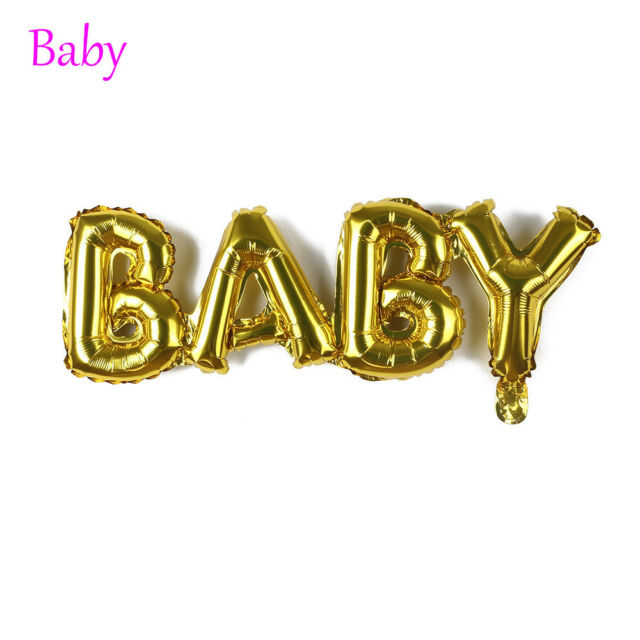 Baby Shower Birthday Party Decor Boy Girl Connection Letter Foil Helium Balloon