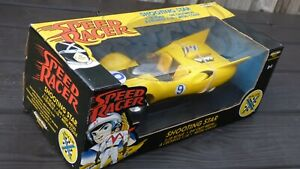 Speed-Racer-X-estrella-fugaz-Animado-Juguete-Coleccionable-Coche-1-18-con-gadgets-Raro