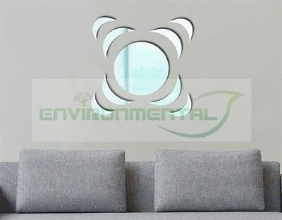 Shake Abstract Acrylic Plastic Mirrors Wall Home Decal Decor Vinyl Art Stickers