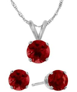 14K-WG-Created-1-65tcw-Ruby-Solitaire-Pendant-and-Earrings-Set