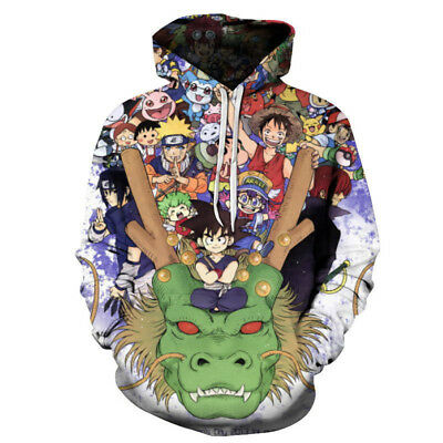 New Womens//Mens One Piece Luffy Anime 3D Print Casual Hoodie Sweatshirt Pullover