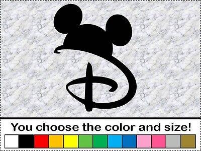 Disney Vinyl Decal Car Truck Sticker Bumper Mickey Mouse Ears WDW Mouseketeer