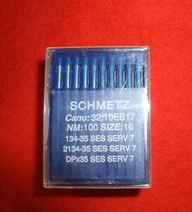 Schmetz-Rundko<wbr/>lbennadeln, System 134-35 SES SERV 7