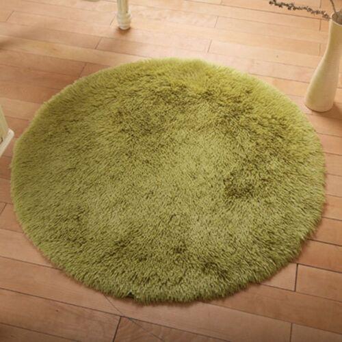 Shaggy Fluffy Rugs Anti-Skid Area Rug Room Home Bedroom Carpet Round Floor Mat