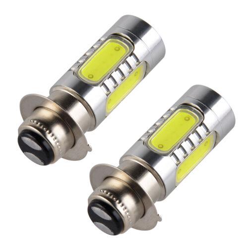 2pcs For Yamaha Breeze 125 Bruin 250 350 Xenon White H6M COB LED Headlight Bulbs