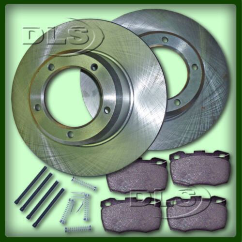 DLS357G LAND ROVER DEF 110`86 to VIN KA930434 SOLID FRONT BRAKE DISC AND PAD SET