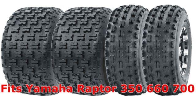 21x7-10 21x7x10 Yamaha Raptor 350 660 700 YFZ450 ATV Front Tire Set 6PR 2