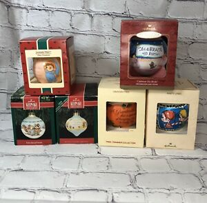 Vintage-Lot-Of-6-Hallmark-Keepsake-Christmas-Ornaments-1980-s