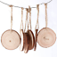 DIY-3D-Xmas-Tree-Pendants-Hanging-Wooden-Christmas-Decoration-Home-Party-Decor miniatura 16