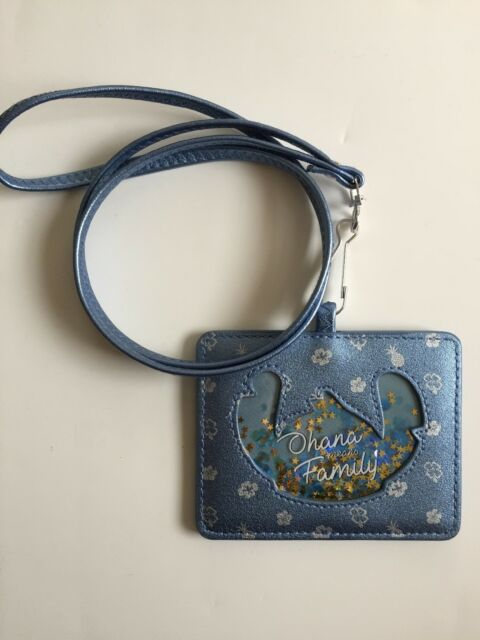4f2203dbc Loungefly Disney Lilo and Stitch Ohana means Family Lanyard Wallet ID  Cardholder