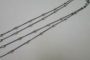 0b574fdcdb380c Image is loading Sterling-Silver-Bulk-Cable-Chain-Satellite-Ruthenium-on-
