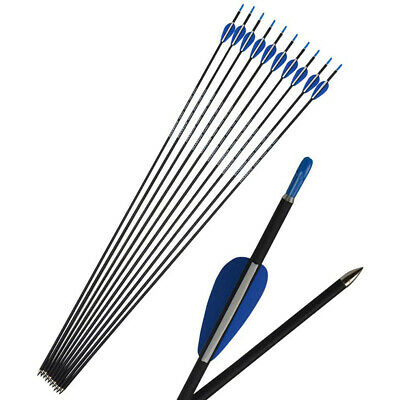 """SP1200 Archery Carbon Arrows 32/"""" Target Shooting Compound Recurve Bow Hunting"""